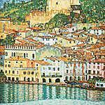 Gustav Klimt: Malcesine, a Garda-tónál (feldolgozás szín 1) (id: 20138) vászonkép