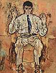 Egon Schiele: Albert Paris von Gütersloh portré (id: 2438) vászonkép