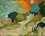 Paul Gauguin: Mosónő Arles-ban (id: 3938) falikép keretezve