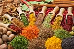 összetétel különböző fűszerekkel és fűszernövényekkel (id: 7138) vászonkép
