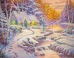 Eredeti olajfestmény Karácsony (id: 10639) vászonkép