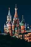 Szent Bazil székesegyház, Moszkva, Oroszország (id: 14339) vászonkép óra