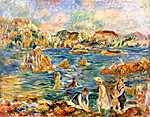 Pierre Auguste Renoir: Guernesey strandján (id: 1439) poszter