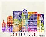 Louisville landmarks watercolor poster (id: 15239) tapéta