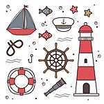 Hajóskapitány szimbólumok (id: 18139) poszter