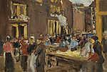 Max Liebermann: Zsidónegyed Amszterdamban (1905) (id: 19639) falikép keretezve