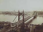 Erzsébet híd a Gellérthegyről nézve (1913) (id: 19739)