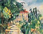 Paul Cézanne: Ház piros tetővel (szín verzió) (id: 20139) tapéta