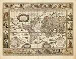 Világtérkép 1635 (színverzió 1) (id: 21439) többrészes vászonkép