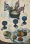 Paul Gauguin: Csendélet három kutyakölyökkel (id: 3939) falikép keretezve