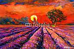 Lavender mezők (id: 4439) vászonkép óra