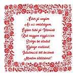 Házi áldás Anyák-napjára, Édes jó anyám... (id: 10240) vászonkép