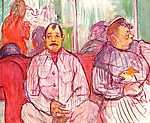 Henri de Toulouse Lautrec: Férj és feleség kiskutyával (id: 1140) poszter