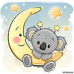 Cute Koala on the moon (id: 18940) poszter
