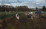 Max Liebermann: Burgonyaszedők (1875) (id: 19640) többrészes vászonkép