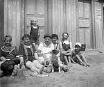 Nyaraló család Siófokon (1917) (id: 20840) falikép keretezve