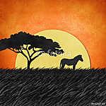 Zebra újrahasznosított papír háttere (id: 6240) vászonkép óra