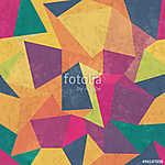 Háromszögmintázat. Színes, grunge és zökkenőmentes. Grunge hatás (id: 11041) falikép keretezve