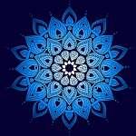 Hand drawn doodle ornate mandala illustration (id: 13041) vászonkép