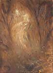 Mednyánszky László: Az erdő szelleme (id: 19941) falikép keretezve