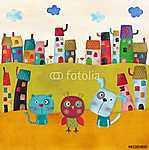Illusztráció gyerekeknek (id: 4141) többrészes vászonkép