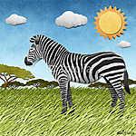 Zebra újrahasznosított papír háttere (id: 6241) falikép keretezve