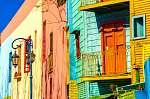Buenos Aires színek (id: 9141) falikép keretezve