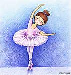 Gyermekkép a kis balett-táncosról a színpadon a colóval (id: 9341) tapéta