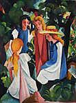 August Macke: Lányok négyesben (id: 11242) tapéta