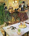 Henri de Toulouse Lautrec: Mr Boileau az asztalnál (id: 1142) vászonkép