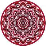 Vector decorative red mandala ornament (id: 13042) falikép keretezve