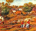 Pierre Auguste Renoir: Cagnes-i tájkép (id: 1442) vászonkép óra
