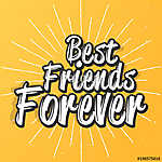 nice and creative abstract, banner or poster for Best Friend Forever or Best Friend Day with nice and beautiful design illustrat vászonkép, poszter vagy falikép