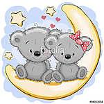 Two Bears on the moon (id: 19042) vászonkép