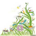 Colorful daisy spring time (id: 19342) többrészes vászonkép