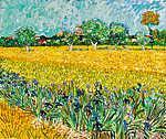 Vincent Van Gogh: Arles látképe íriszekkel (színverzió 2) (id: 20342) tapéta