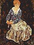 Egon Schiele: Portré az ülő Edith Schiele-ről (id: 2442) vászonkép óra