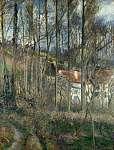 Camille Pissarro: Házak az erdőben Côte des Boeufs-nál (id: 2642) poszter