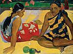 Paul Gauguin: Tahiti nők (id: 3942) többrészes vászonkép