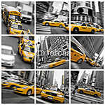 Square Taxi Kollázs New Yorkban - USA (id: 4642)