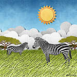 Zebra újrahasznosított papír háttere (id: 6242) vászonkép óra