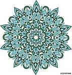 Vector blue and green mandala illustration. (id: 13043) tapéta