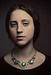 Reneszánsz stílusú női portré  (id: 17543) többrészes vászonkép