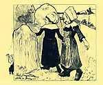 Paul Gauguin: Bretoni asszonyok - Színverzió 1. (id: 3943) többrészes vászonkép