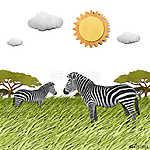 Zebra újrahasznosított papír háttere (id: 6243) többrészes vászonkép