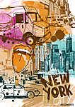 New York-i közlekedés (id: 10344) falikép keretezve