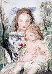 Mary Cassatt: Anya gyermekével (id: 19844) vászonkép