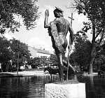 Tata, Keresztelő Szent János szobra (1945) (id: 20644) vászonkép óra