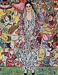 Gustav Klimt: Portré Frederika Maria Beer-ről (id: 2444) vászonkép óra