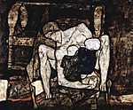 Egon Schiele: Anya (id: 3044) többrészes vászonkép